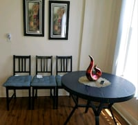 round black wooden table and three chairs set Los Angeles, 90045