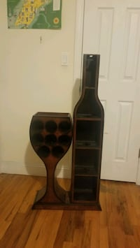 Unique wine bottle and glass holder  Queens, 11103