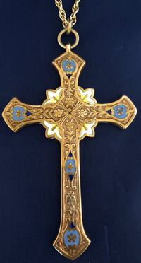 Vintage Gold Filled Religious Cross & Chain (Made In France) Fort Washington, 20744