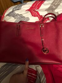 red Michael Kors leather tote bag Carbondale, 62901