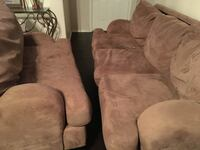 brown suede 3-seat sofa Laredo, 78043