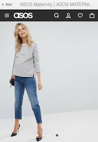 ASOS MATERNITY: Stylish Cropped Jeans — size 12US  Toronto, M6P