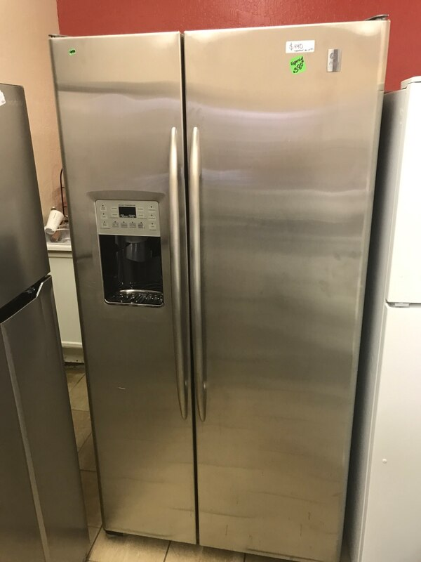 Ge Profile Stainless Steel Side By Side Fridge