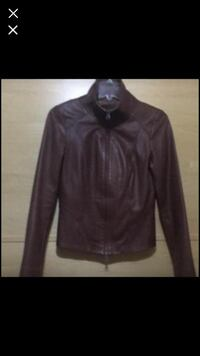 black leather zip-up jacket Toronto, M9R 1V9