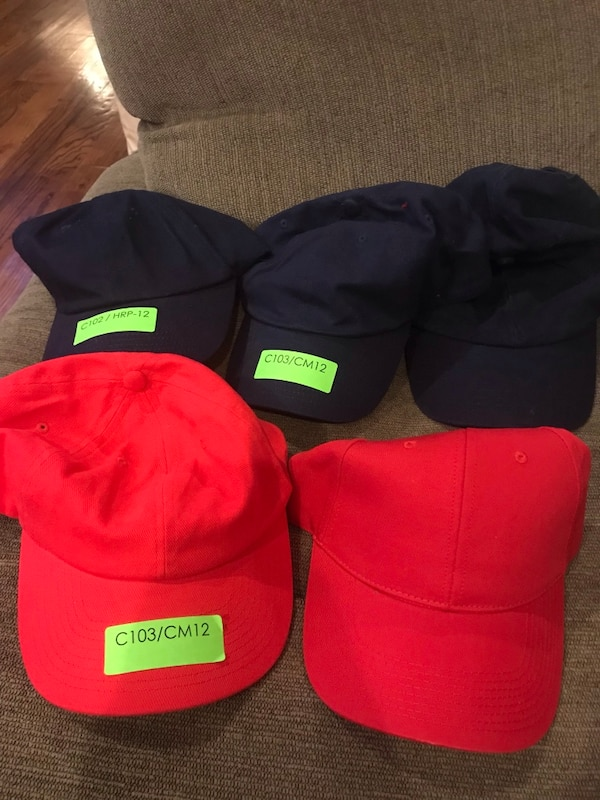 4caaae5dd2949 7 Blank Hats - Red   Dark Blue. HomeUsed Fashion and Accessories in New York  ...
