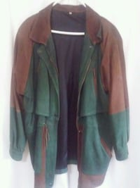 Unisex green and brown long sleeve leather SM Columbus, 31909