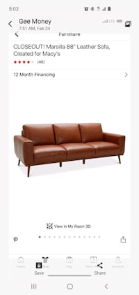"""88"""" couch"""