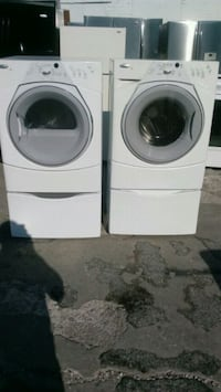 white front-load washer and dryer set Kansas City, 64129
