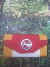 Hermés red, yellow, white leather clutch wallet Vancouver