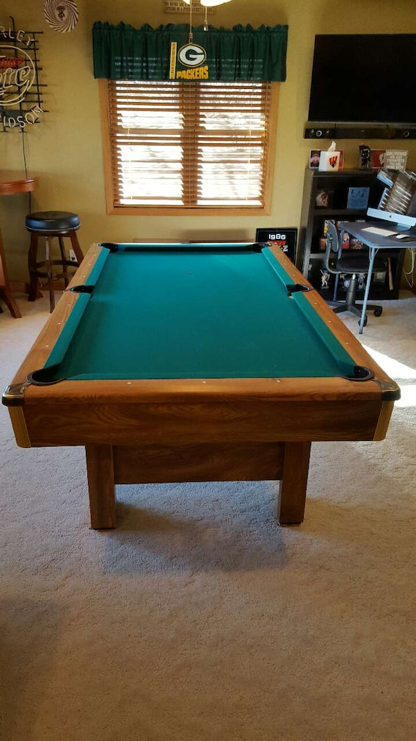 Used Ft Brunswick Buckingham Pool Table For Sale In Cottage Grove - Brunswick 7ft pool table