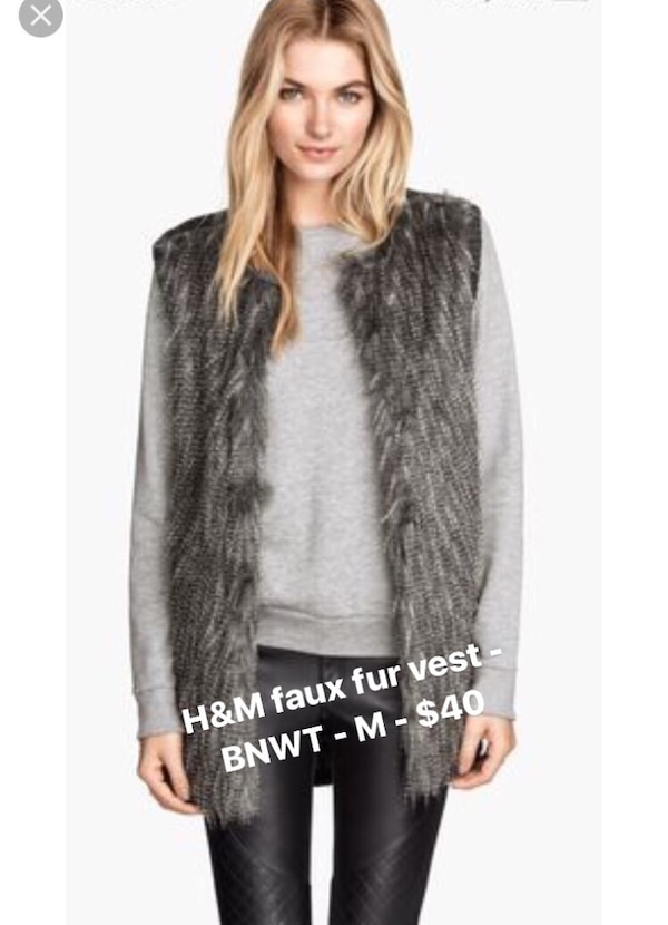 Used H M Faux Fur Vest - Medium for sale in New Westminster - letgo 50053e5dc5ce