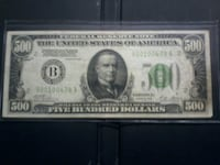 1928 series $500 federal Reserve Note