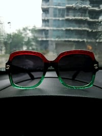 black and green framed sunglasses Toronto