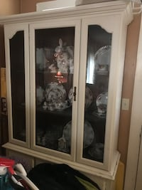 $  China Cabinet(contents not included)You pick-up!  Cash or Credit Card via PayPal. NO CHECKS Marquette Heights, 61554