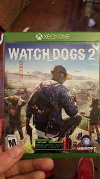 Watch Dogs 2 Xbox One game case