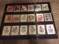 18 Cincinnati Reds cards autographed in person framed