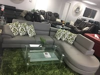 Modern bonded leather sectional. Brand new.  Farmers Branch, 75234