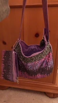Purple glitter purse and wallet Boyds, 20841
