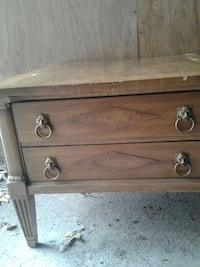 brown wooden 2 tier drawer end table Flemington, 08822