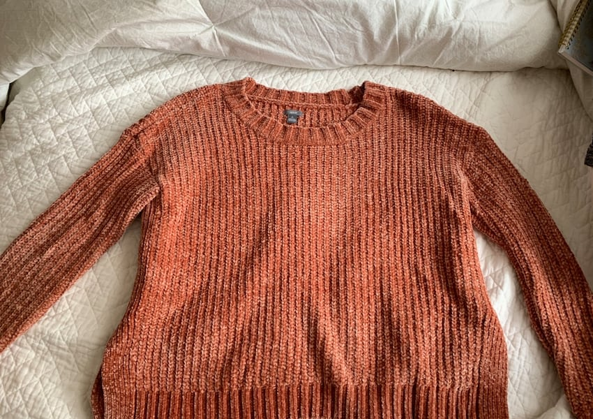 Aerie knit sweater orange aded0ce0-c503-4dbb-9023-a250d2f344f5