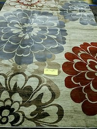 brown and white floral area rug Lithonia, 30038