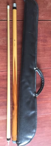 60 inch 2-piece pool cue and case