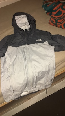 black and white the north face full zip hoodie