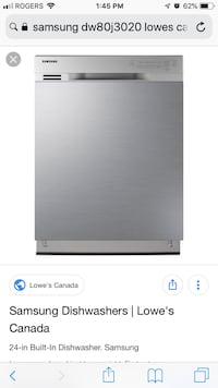 "Samsung 24"" Stainless Dishwasher Barrie, L4N 6Z9"