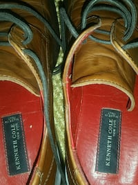 pair of brown leather loafers 757 mi
