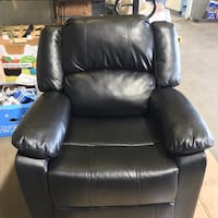 Black Faux Leather Lounger Chair Richmond, 23234