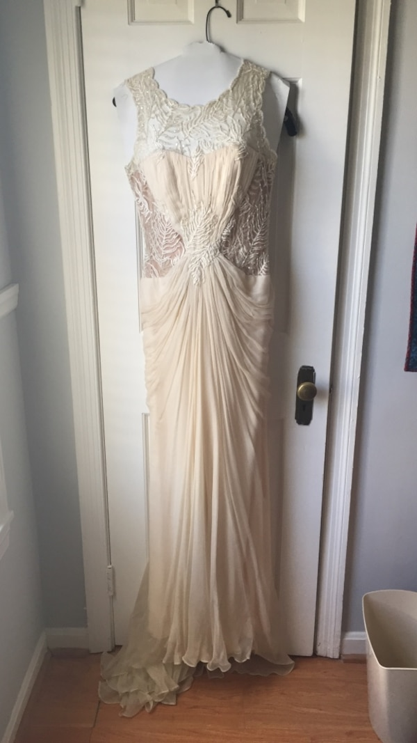 Anthropology Grecian style wedding gown