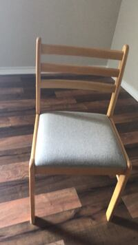 brown wooden framed gray padded chair Harker Heights, 76548