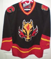 Calgary Flames Alternate Horse Head Hockey Jersey Size S/M by Pro Player London