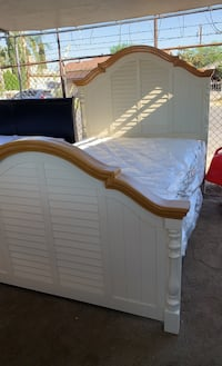 Queen size bed with new mattress