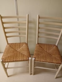 Four dining wicker chairs