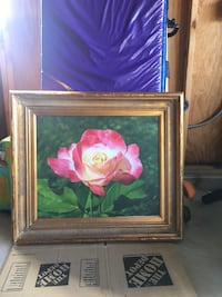 Rose oil painting 32.5x28