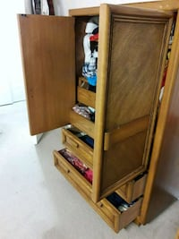 Wooden cupboard with shelves and drawers Edmonton, T6J 4M5