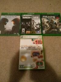three Xbox One game cases Airdrie, T4B 2P7