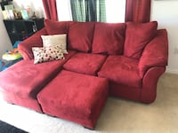 red suede sectional couch with throw pillows Pensacola, 32501