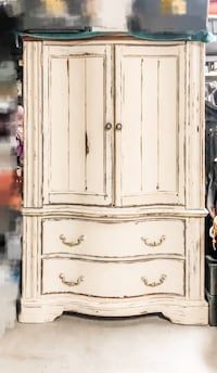 Unique Rustic Armoire for TV or Wardrobe with 2 large drawers Las Vegas