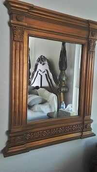brown wooden framed wall mirror Chino Hills, 91709