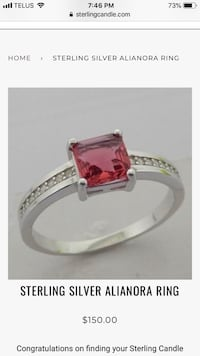 Sterling Candle .925 Sterling Silver Ring Mississauga, L5G 1J1