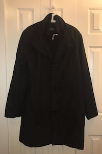 men's XL black international clothing winter jacket long coat
