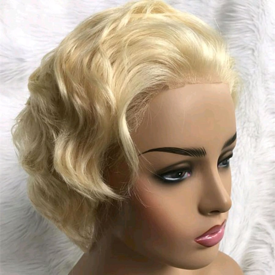 Full Lace Wig Soft Blonde Color