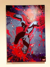"SpiderMan framed canvas art 13"" x 19"" Savage, 20763"