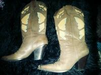 pair of brown leather cowboy boots Las Vegas, 89102