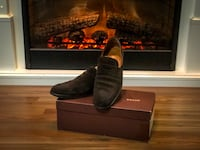 Bally Antes Loafers in Chocolate Calf Suede size 10 9.5/10 condition Surrey, V4N 5W3