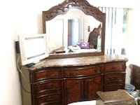 6 piece bedroom set with marble tops on nite stand Lincoln, 95648