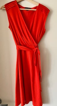 New Red Dress by Banana Republic