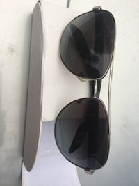 silver framed Ray-Ban aviator sunglasses 27 km